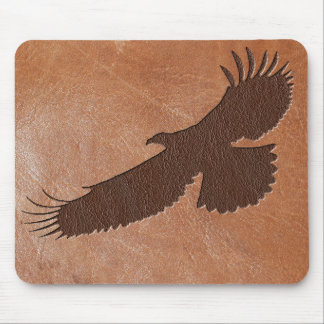Eagle Embossed Leather Mouse Pad