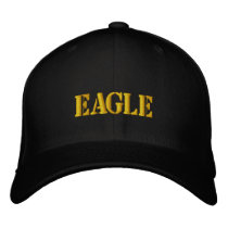 EAGLE EMBROIDERED BASEBALL HAT