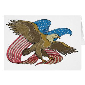 Eagle embroidered card
