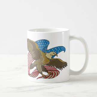Eagle embroidered coffee mug