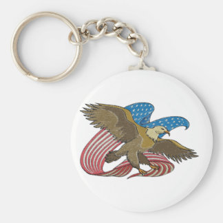 Eagle embroidered keychain