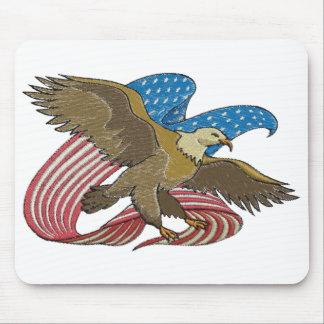 Eagle embroidered mouse pad