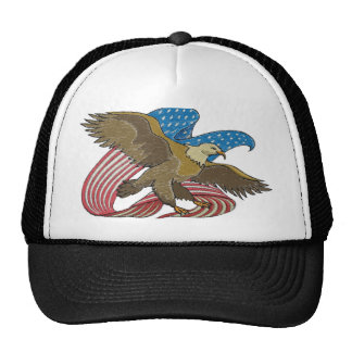 Eagle embroidered trucker hat