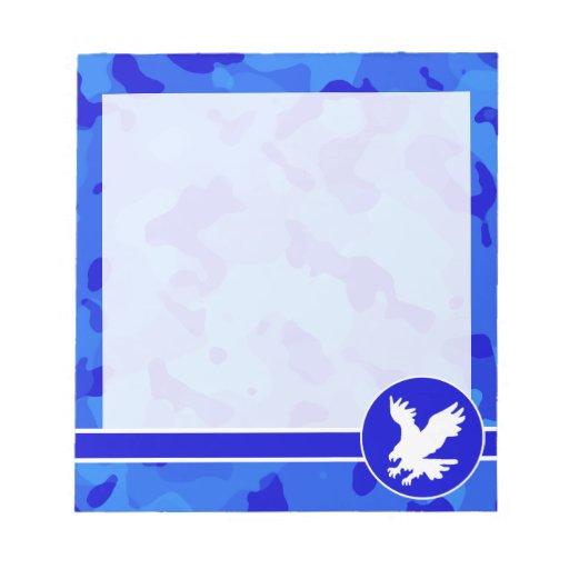 Eagle en Camo azul; Camuflaje Bloc De Notas