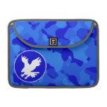 Eagle en Camo azul; Camuflaje Funda Para Macbooks