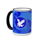 Eagle en Camo azul; Camuflaje Tazas