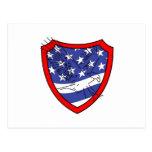 Eagle en el escudo de la bandera postal