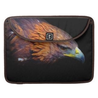 Eagle en fondo negro fundas para macbook pro