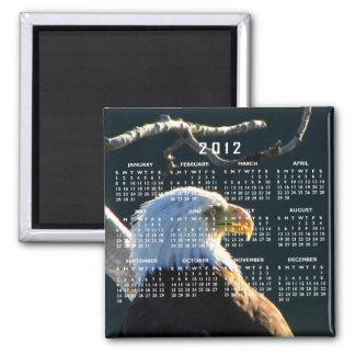 Eagle en la atención; Calendario 2012 Imán Cuadrado