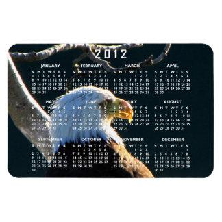 Eagle en la atención; Calendario 2012 Iman Rectangular