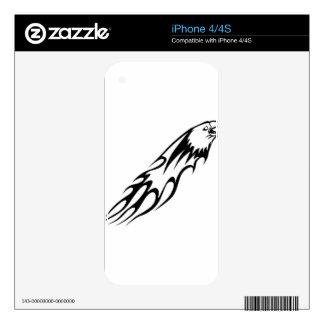 Eagle en llamas skins para eliPhone 4