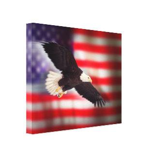 Eagle en lona de la bandera americana lona envuelta para galerias