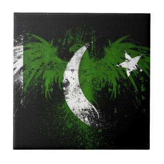 Eagle-en-paquistaní-bandera-papeles Azulejo Ceramica