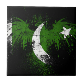 Eagle-en-paquistaní-bandera-papeles Azulejo Cuadrado Pequeño