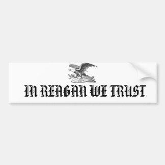 EAGLE, EN REAGAN CONFIAMOS EN PEGATINA DE PARACHOQUE