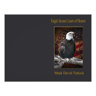 Eagle en registro con la bandera tarjeton