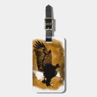 Eagle en vuelo etiqueta de maleta