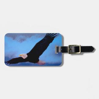 Eagle en vuelo etiqueta para equipaje