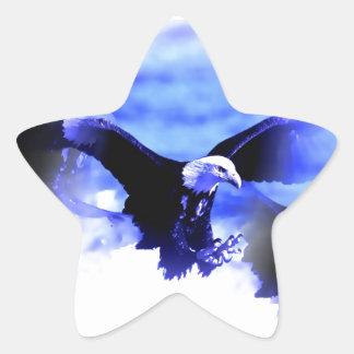 Eagle en vuelo calcomanía forma de estrella personalizadas