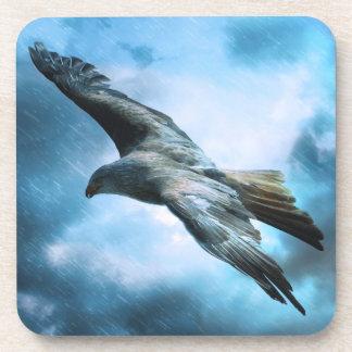 Eagle en vuelo posavasos de bebidas
