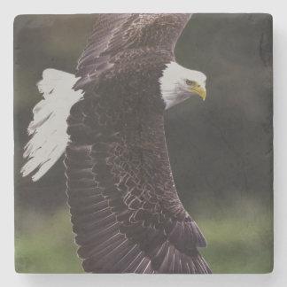 Eagle en vuelo posavasos de piedra