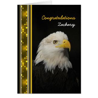 Eagle - enhorabuena - logro - otro uso tarjeta de felicitación
