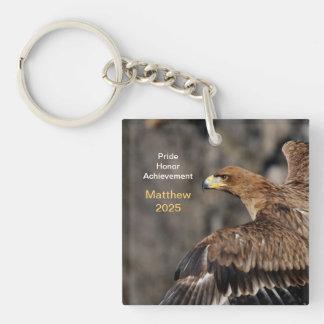Eagle - enhorabuena - personalizable - recuerdo llavero cuadrado acrílico a doble cara