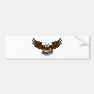 Eagle Esports Sports Gamer Mascot Bumper Sticker