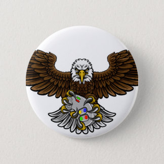 Eagle Esports Sports Gamer Mascot Pinback Button