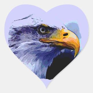 Eagle Eye Heart Sticker