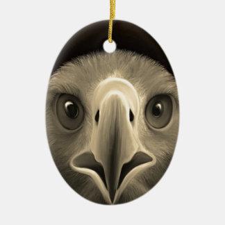 Eagle Eyes Ceramic Ornament