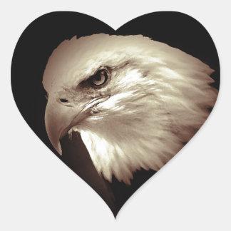 Eagle Eyes Heart Sticker