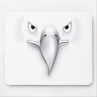 Eagle Face Silhouette Mouse Pad