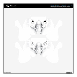 Eagle Face Silhouette PS3 Controller Decal