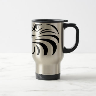 Eagle Face Silhouette Travel Mug