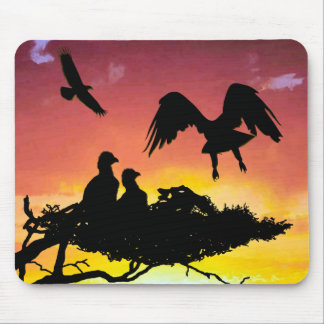 Eagle family mouse pad