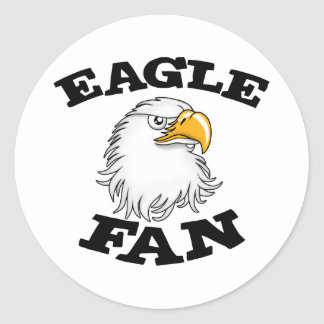 Eagle Fan Classic Round Sticker