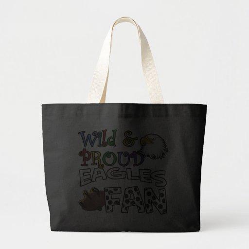 Eagle Fan Sports Polka Dots Rainbow Jumbo Tote Bag