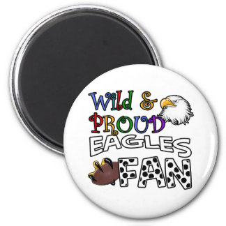 Eagle Fan Sports Polka Dots Rainbow Magnet