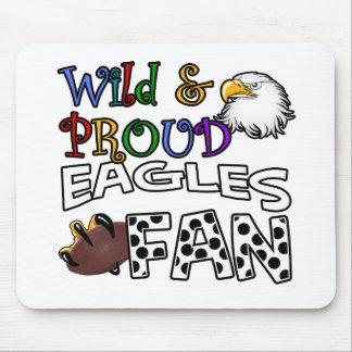 Eagle Fan Sports Polka Dots Rainbow Mouse Pad