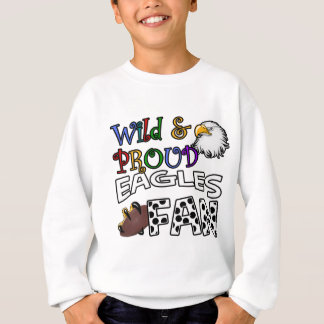 Eagle Fan Sports Polka Dots Rainbow Sweatshirt
