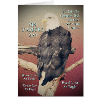 Eagle Father's Day Greeting Card