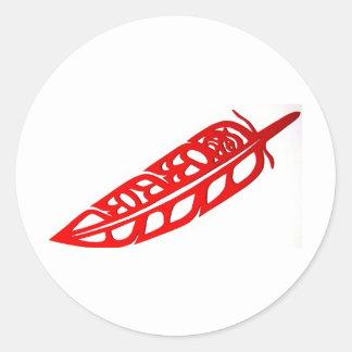 Eagle Feather Design Sticker