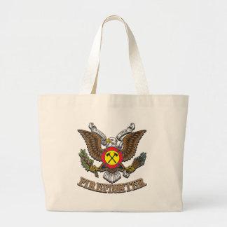 Eagle Firefighter Large Tote Bag