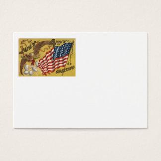 Eagle Fireworks Firecracker US Flag Business Card