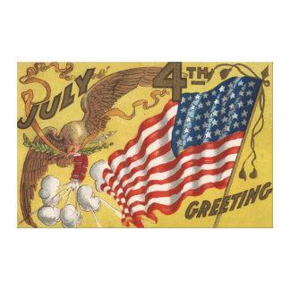 Eagle Fireworks Firecracker US Flag Canvas Print