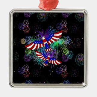 Eagle Fireworks Metal Ornament