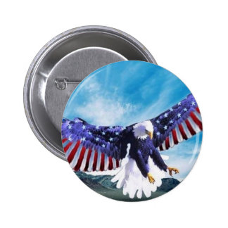 Eagle Flag 2 Inch Round Button