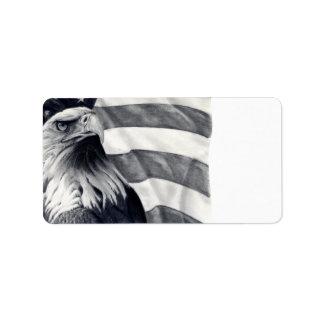 Eagle & Flag Address Labels