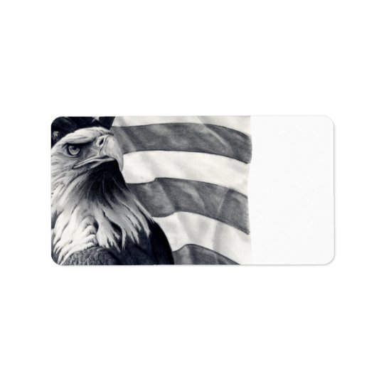 Eagle & Flag Address Labels